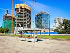 New Wola district buildings and constructions, Warsaw, Poland