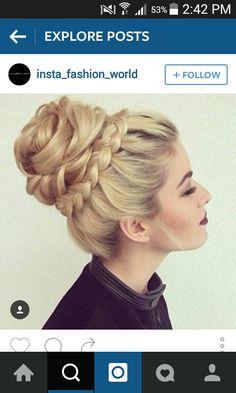 Beautiful braid bun