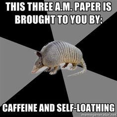 Or caffeine and random middle-of-the-night motivation!