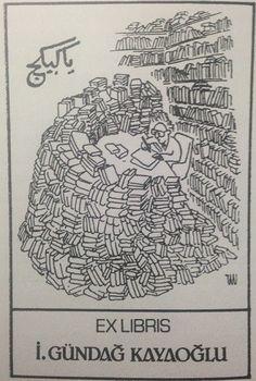 """Aynı zamanda bir halk kültürü uzmanı olan araştırmacı yazar İ. Gündağ Kayaoğlu, 1985 yılında; üzerinde Tan Oral'ın bir karikatürünün ve Arapça """"Yâ Kebikeç"""" yazısının bulunduğu ekslibris yaptırmıştır. (Eskiden el yazması kitapları kurtlardan korumak için kenarına """"böceklerin padişahı"""" olduğu düşünülen """"Kebikeç"""" sözcüğü yazılırdı. Böceklerin, güvelerin kebikeçten korkup kitaplara yaklaşmayacağına inanılırdı.)"""