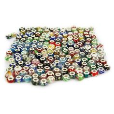 Wholesale Mixed Lot of 10 Murano Glass Beads with 925 Silver Core