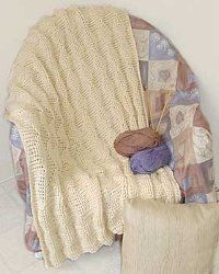 http://www.favecrafts.com/Crochet-Afghans/Easy-Worsted-Afghan-from-Bernat/ml/1: Use this free crochet afghan pattern to create a brilliant pattern. This is an easy pattern you can make your friends too. Worsted weight yarn makes this nice and warm.
