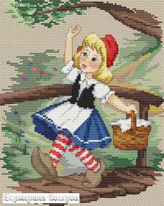 Cross Stitch Fairy, Counted Cross Stitch Patterns, Cross Stitch Designs, Cross Stitch Embroidery, Kids Patterns, Hand Embroidery Patterns, Plastic Canvas Patterns, Cross Stitching, Needlework