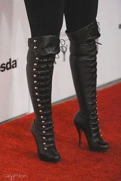 0496b56f6a1  heels  boots  shoes  stilettos  ankleboots Thigh High Boots