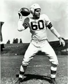 Otto Graham press photo taken at first Browns' home: League Park aka Dunn Field