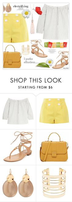 """""""Electrifying Summer"""" by mcheffer ❤ liked on Polyvore featuring Madewell, Boutique Moschino, MICHAEL Michael Kors, Alexis Bittar, Charlotte Russe and Oasis"""