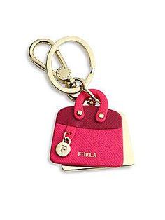 Furla Venus Leather Bag Keychain
