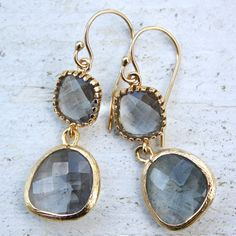 Drops of Jupiter Earl Grey Gold Earrings I just really, really want these! @Joshua Jenkins Makinen