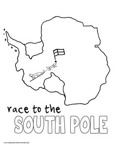 World History Coloring Pages Printables Race to the South Pole