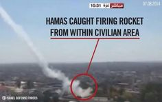 Hamas places weapons and missile launchers in densely populated areas. They also send men, woman and children to act as human shields for terrorists.