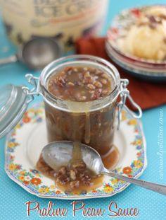 Praline Pecan Sauce - eat it on ice cream, pumpkin pie, apple pie, waffles, french toast . . . YUM!