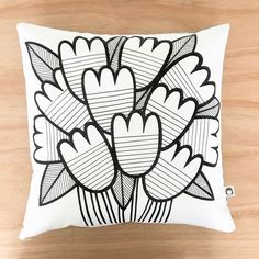 Scandi Tulips Cushion Cover • Jane Foster