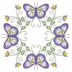 Butterfly Fancy Block 2 - 3 Sizes! | What's New | Machine Embroidery Designs | SWAKembroidery.com Ace Points Embroidery