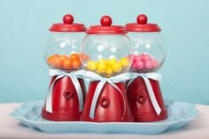 Gumball Machine Candy Dish - ADORABLE!