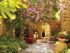 schöner garten mediterram gestalten - neue ideen Mediterranean Garden Design, Garden Mural, Garden Stand, Garden Styles, Garden Paths, Beautiful Gardens, Landscape Design, Planting Flowers, Backyard
