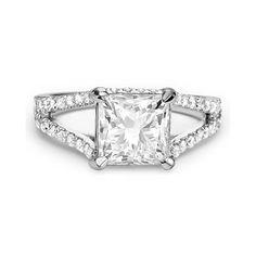 3.51ct G SI2 PRINCESS CUT DIAMOND ENGAGEMENT RING 14K WHITE GOLD At-http://www.larrysfinejewelryinc.com