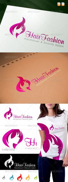 Hair Fashion Spa & Salon Logo Design Template Vector #logotype Download it here: http://graphicriver.net/item/hair-fashion-spa-salon-logo/3657194?s_rank=29?ref=nexion