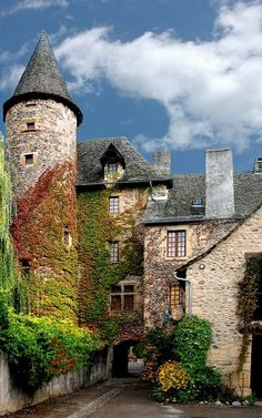 Sainte Eulalie d& Aveyron, Southern France, by Jacques Ficat Beautiful Castles, Beautiful Buildings, Beautiful World, Beautiful Places, Beautiful Architecture, Amazing Places, Oh The Places You'll Go, Places To Travel, Places To Visit