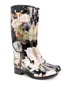 Printed wellington boot - Jet | Shoes | Ted Baker