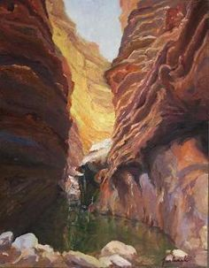 Blacktail by Marian Fortunati Oil This artist does a lot of canyon paintings - I like the level of detail.