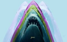 Jaws Wallpaper: Jaws Wallpaper Graphic Movie Poster Design By ...