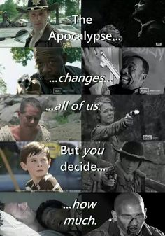 The Walking Dead - That's right... My God this is so sad! Now I'm almost a little depressed...