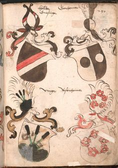 Wernigeroder (Schaffhausensches) Wappenbuch Süddeutschland, 4. Viertel 15. Jh. Cod.icon. 308 n Folio 237r