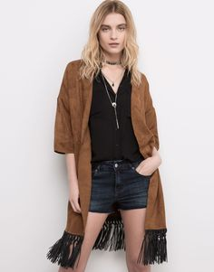FRINGED KIMONO - NEW PRODUCTS - NEW PRODUCTS - PULL&BEAR United Kingdom