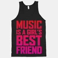 Music Is A Girls Best Friend (Black Tank)