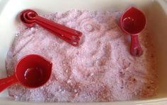 Sensory Candy Cane Salt Tray