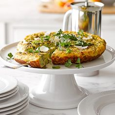 Frittata with Mixed Herbs, Leeks and Parmigiano-Reggiano Cheese Recipe Egg Recipes, Cheese Recipes, Brunch Recipes, Breakfast Recipes, Cooking Recipes, Healthy Recipes, Brunch Ideas, Breakfast Bites, Free Recipes