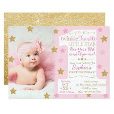 #Twinkle Twinkle Little Star Birthday Invitation - #birthday #invitations