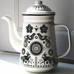 Folklore Enamel Coffee Pot