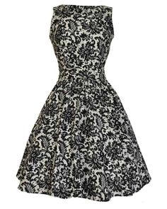 Glamorous Black Lace Tea Dress