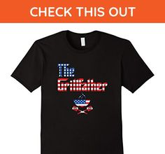 Mens The Grillfather Bar-B-Que (BBQ, Barbeque) USA Flag  XL Black - Cities countries flags shirts (*Amazon Partner-Link)