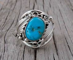 Navajo Silver Turquoise Men's Leaf Ring Sz 12,Native American Men's Turquoise Ring,Handmade Men's Silver Ring,American Indian Made In USA