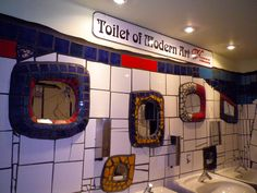 Toilet designed by Hunderwasser