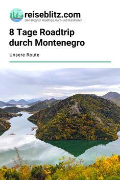 Ein Roadtrip durch Montenegro ist ideal, um das Land in all seinen Facetten zu entdecken. In diesem Reisebericht stellen wir dir unsere Route für 8 Tage vor. Montenegro, Reisen In Europa, Roadtrip, Places To See, Group, Mountains, Board, Nature, Travel