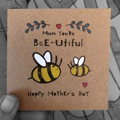Birthday Cards For Mother, Homemade Birthday Cards, Homemade Cards, Diy Birthday Gift, Mom Birthday Crafts, Mother's Day Gift Card, Happy Mother's Day Card, Mothers Day Crafts For Kids, Happy Mothers Day