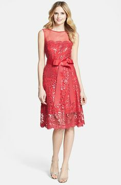 Something like this for Awards Banquet? Tadashi Shoji Illusion Yoke Embellished Lace A-Line Dress available at Lace A Line Dress, Lace Sheath Dress, Pretty Outfits, Beautiful Outfits, Pretty In Pink Dress, Material Girls, Nordstrom Dresses, Dress Me Up, Tadashi Shoji