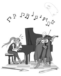 Wow.. I feel like they'd be really good at this for some reason! Well, maybe not Undyne.. Papyrus, though, he'd probably be great on the violin!