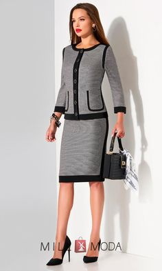 Skirtsuit by Lissana Classy Business Outfits, Classy Outfits, Business Attire, Suits For Women, Clothes For Women, Professional Outfits, Dress Suits, Office Outfits, Work Attire
