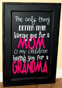 Christmas or Mothers Day gift idea for a grandma