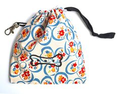 Blue Floral Dog Tidy Pouch $20