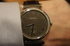 Alexandre Meerson Altitude OFFICIER SMALL SECONDS  The graphite dial shows time with small seconds in a titanium case.