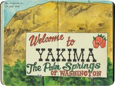 Yakima, WA sketch by Chandler O'Leary