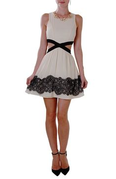 Elsie Cutout Dress - Sleeveless Lace Cut-Out Party Dress - Humblechic.com