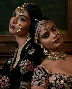 Exquisite Naths handcrafted by Kishandas & Co. for Sabyasachi's celebrated Firdaus collection from his Indian Couture 2016 India Fashion, Asian Fashion, Indian Dresses, Indian Outfits, Indian Clothes, Moda Indiana, Indian Bridal Wear, Brown Girl, Indian Couture