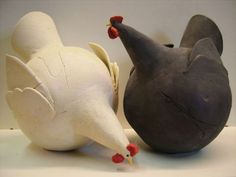 Love these Rotund Hens! by Lea Wijnhoven