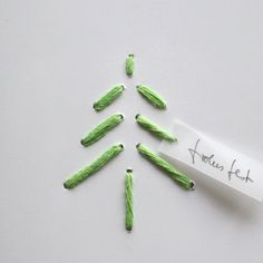 weihnachtskarte STITCH glossy handmade von papersign auf Etsy, $7,25